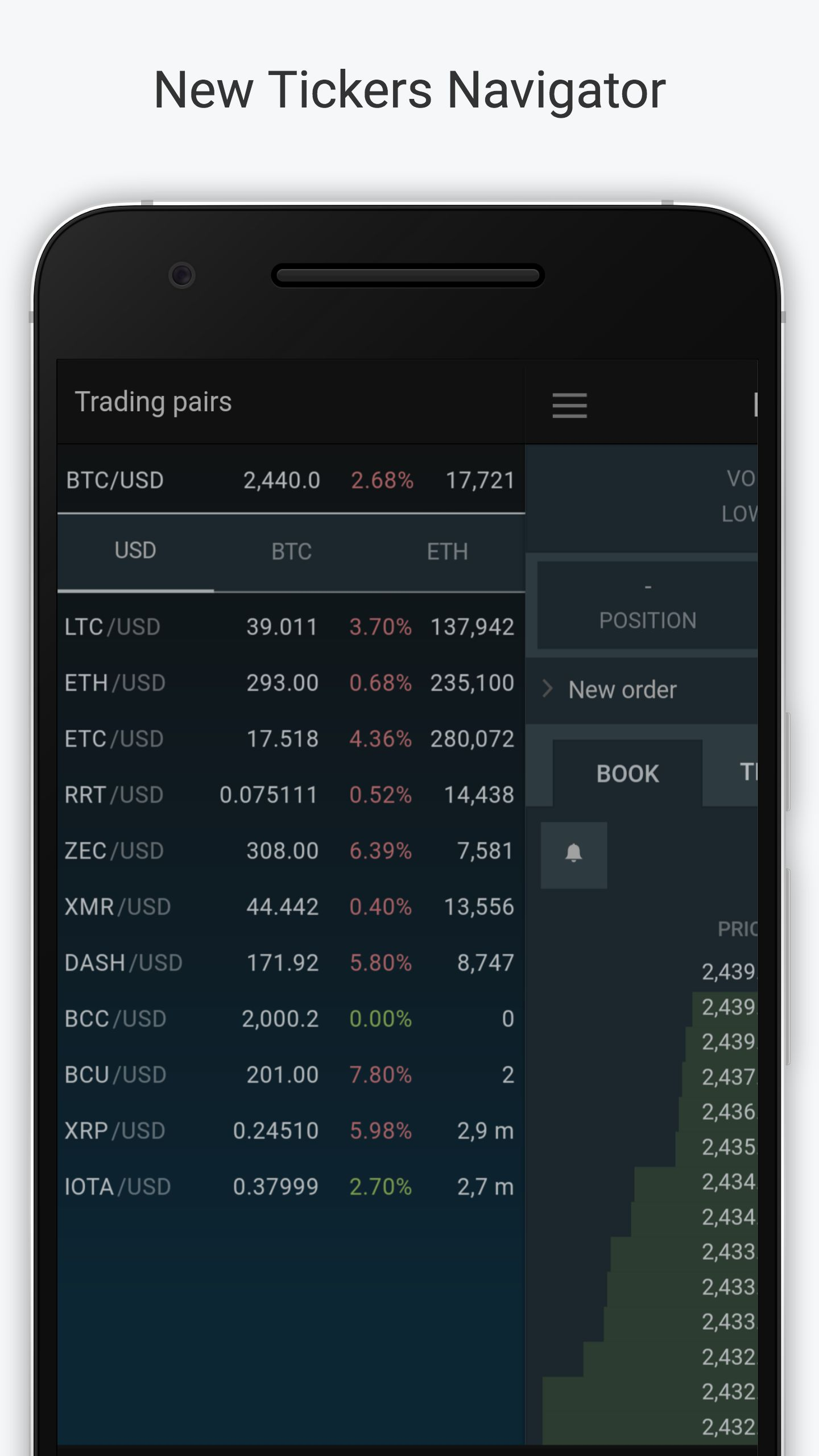 Bitfinex Mobile App 2 5 8 Brings XRP to iOS and Chart