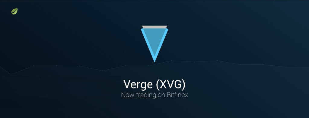 Bitfinex Launches Verge (XVG) Trading