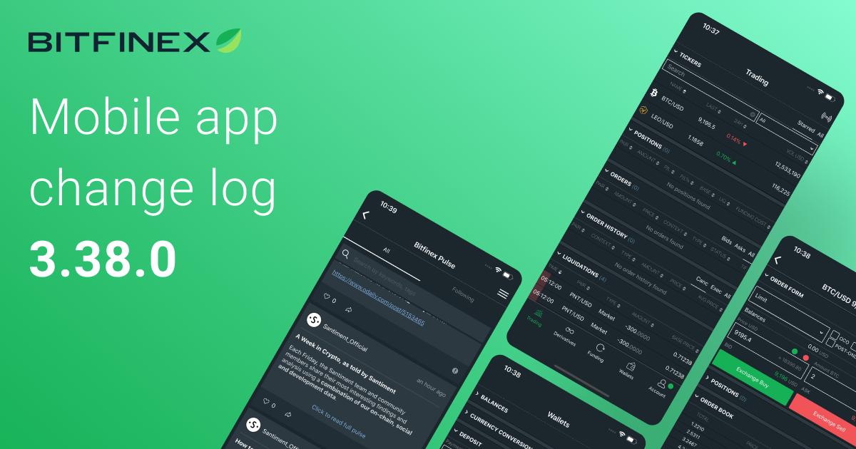 Mobile App Change Log 3.38.0