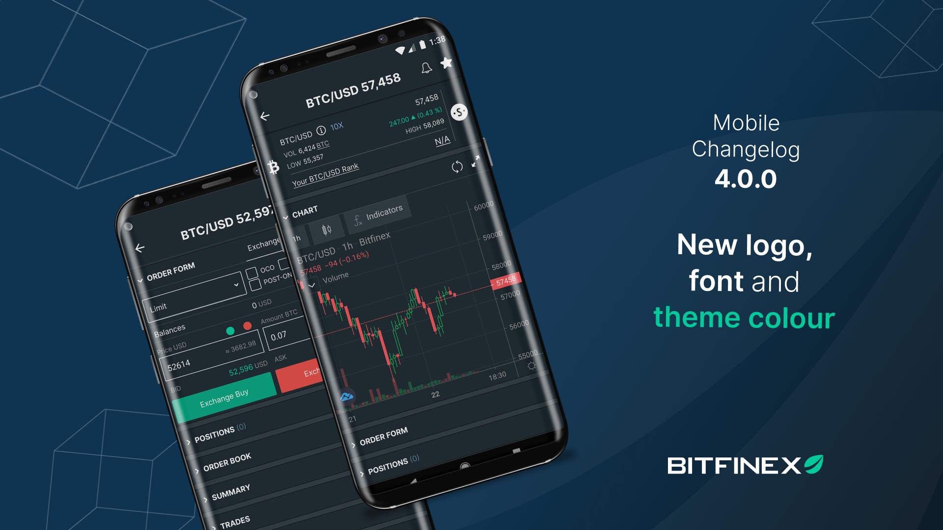 Mobile App Change Log 4.0.0 - Bitfinex blog